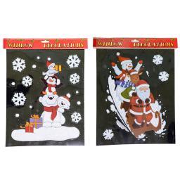 Fensterbild 2er Set, Santa und Eisbär
