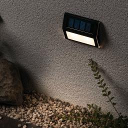 Outdoor Solar Wegeleuchte Dayton, 3000K 4lm IP44 Metall/Kunststoff, anthrazit