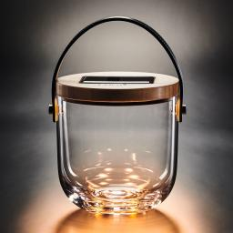 Deko Glas Basic, 15 cm, Glas, Bambus , klar