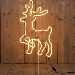Premium-Neon-LED-Hirsch, 88 cm