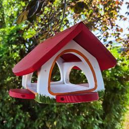 Vogelhaus Futterscheune, weiß