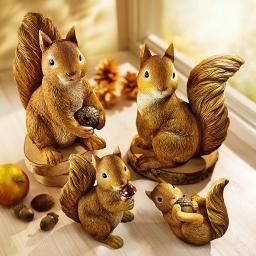 """Deko-Tierfiguren """"Eichhörnchenfamilie"""", 4er-Pack"""