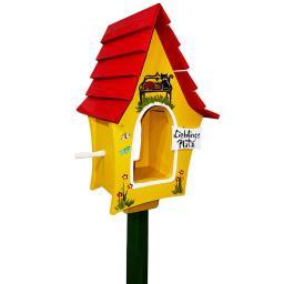 Vogelhaus Lieblingsplatz mit Lamellendach, gelb