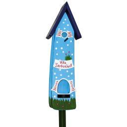 Nistkasten mit Vogelhaus Gartenlust, blau