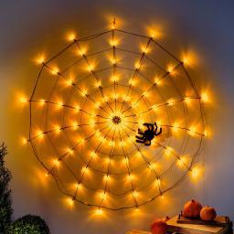 LED-Spinnennetz mit Spinne