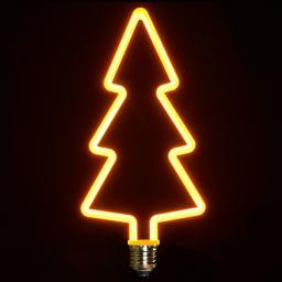 Retro LED-Dekolampe, Weihnachtsbaum, 11x24 cm dimmbar