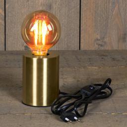 Deko-Tischleuchte mit Retro Glühbirne, 7,5 x 10 cm, Goldoptik