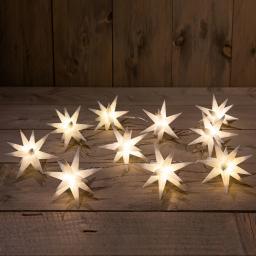 LED-Lichterkette mit 3D Sternen, Ø 12 cm, 1,5 m