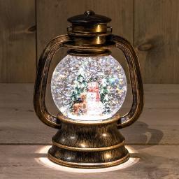 LED-Laterne mit Schneemann, 20x13,5 cm