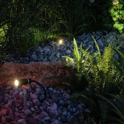 LED Outdoor Plug & Shine Basis-Set Erdspieß Plantini, 3000K  3x2,5W 21VA, anthrazit