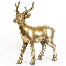 Edler Deko-Hirsch Herbert, 47x17x57 cm, gold