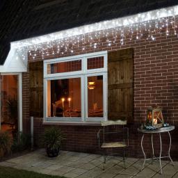 LED-Eiszapfenvorhang, 360 LEDs, 720x60 cm