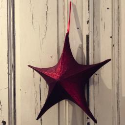 Bezaubernder Dekostern, 40 cm, rot