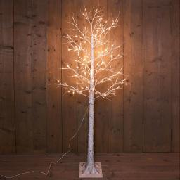 LED-Dekobaum Birke, 204 LEDs, 200 cm