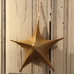 Bezaubernder Deko-Stern, 40 cm, Stoff, gold
