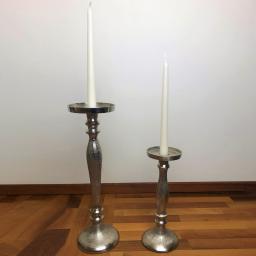 Kerzenleuchter, 11x11x36 cm, silber