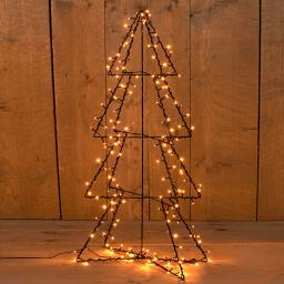 3D Weihnachtsbaum mit LED-Beleuchtung, 190 LEDs, 117 cm