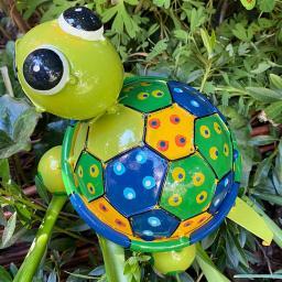 Schildkröte Turga, grün, bunt