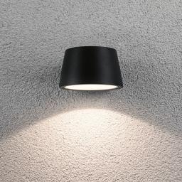 LED Outdoor Wandleuchte Capea, 3000K 6W 230V IP44, Alu, schwarz