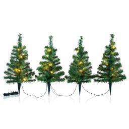 Lichter-Weihnachtsbäumchen, 4er Set