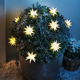LED-Lichterkette Weihnachtstern, weiß
