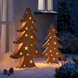Tannenbaum mit LED-Lichterkette, 80 cm