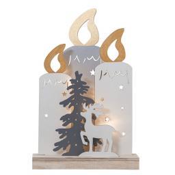 Weihnachts-Silhouette LED Lichterglanz, 22x6x34 cm