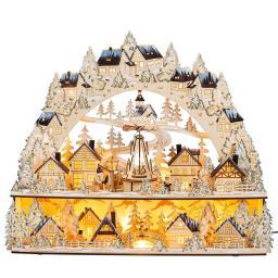 """LED-Lichterbogen """"Weihnachtsmarkt"""" mit beweglicher Pyramide"""