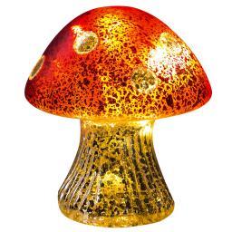 Glas-Pilz mit LED-Beleuchtung , 12 cm