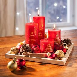 Kerzenset Weihnachten mit Deko