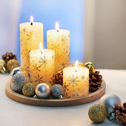Kerzenset White Christmas