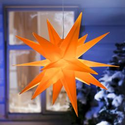 LED-Außenstern Weihnachten, orange