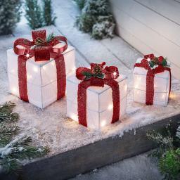 "LED-Deko ""Geschenke"" 3er-Set"