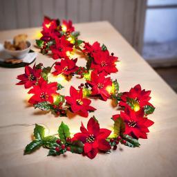 "LED-Lichterkette ""Weihnachtsstern"" rot"