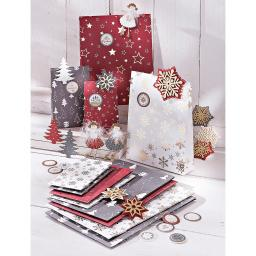 """Geschenktüten-Set  """"Weihnachten"""", 36-teilig"""