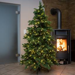 Künstlicher Weihnachtsbaum Kiefer mit LED-Beleuchtung, 210 cm