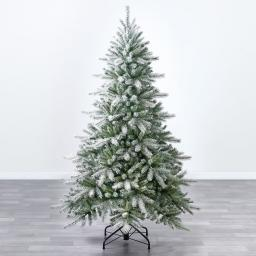 Künstlicher Weihnachtsbaum Fichte, Schneeoptik, 180 cm