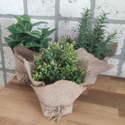 Kunstpflanze Kräutersortiment, 3er-Set