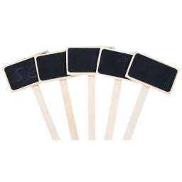 5er-Pack Holz-Pflanzschildchen