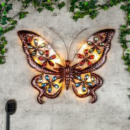 LED Wandlicht Schmetterling, Solarbetrieben