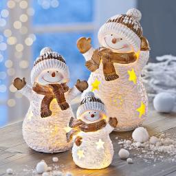 LED-Schneemann-Familie Frosty, 3er-Set