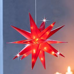LED-Stern Xmas 12 cm, Rot