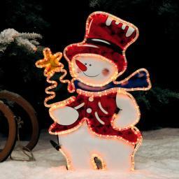 Leucht-Schneemann Herzi
