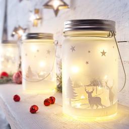 Sparset LED-Glasleuchte Weihnachten