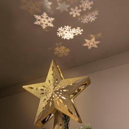 Baumspitze Stern mit LED-Projektor