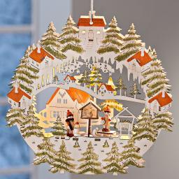 LED Hängedeko Weihnachtsdorf