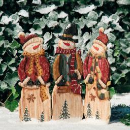 Landhaus-Schneemann-Trio