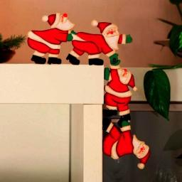 Kanten-Deko Weihnachtsmann-Quartett