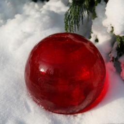 Glaskugel Weihnachtsglanz, rot 20 cm