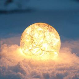 Glaskugel Weihnachtsglanz, klar 10 cm